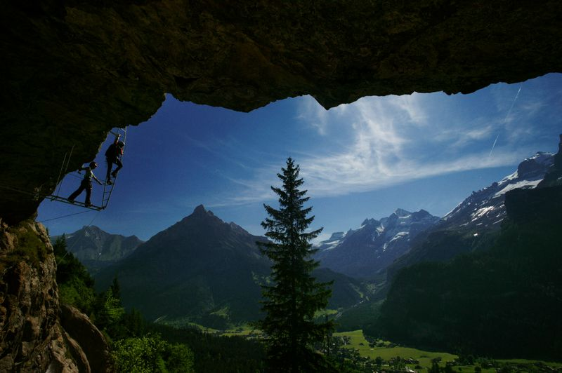 Klettersteig Switzerland : Klettersteig kandersteg allmenalp luftseilbahn